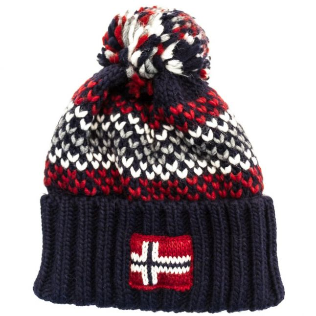 Mens Blue Marine Frei Knitted Hat