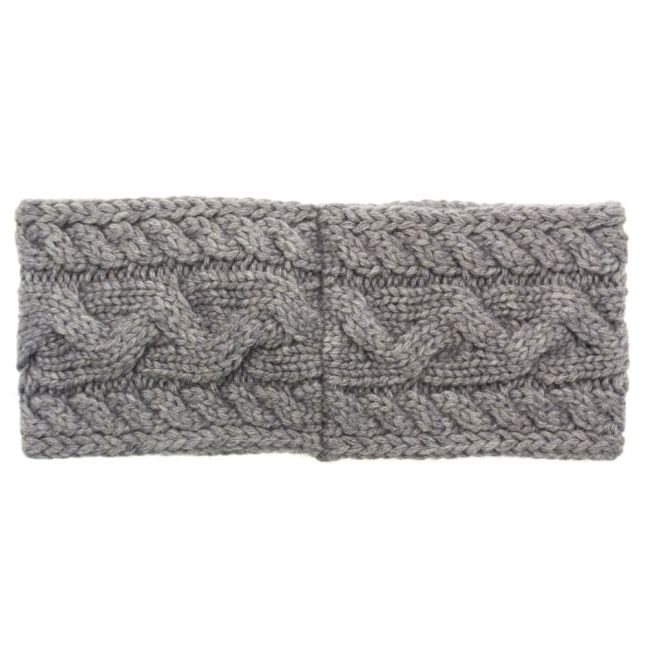 Womens Steel Heather Cable Knitted Headband