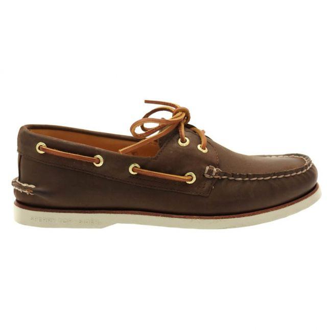 SperryMensBrownTop-SiderGoldCupAuthenticOriginalBoatShoes