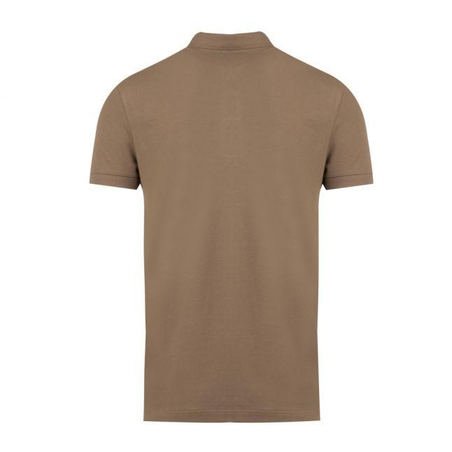 Casual Mens Khaki Passenger Slim Fit S/s Polo Shirt
