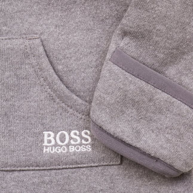 Baby Grey Branded Hooded Suit