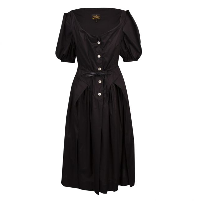 Anglomania Womens Black New Saturday Puff Sleeve Dress