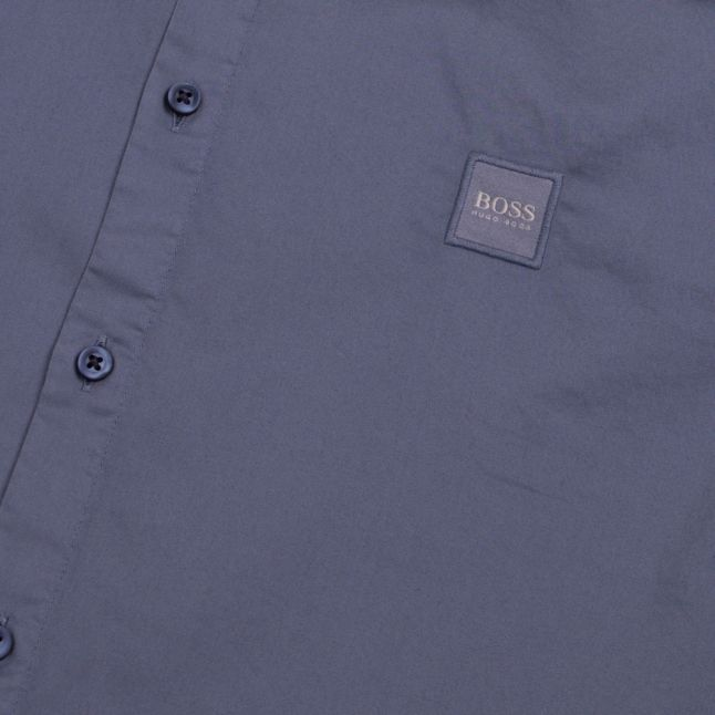 Casual Mens Mid Blue Magneton_1 Stretch S/s Shirt