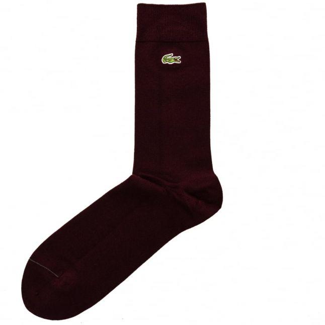 Mens Burgundy Socks