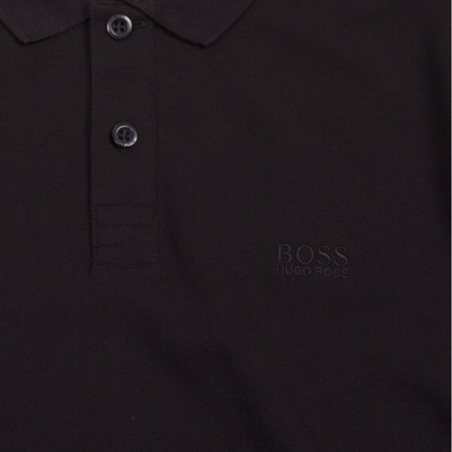 Athleisure Mens Black Piro Regular Fit S/s Polo Shirt