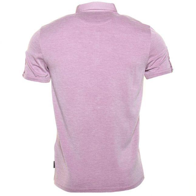 Mens Purple Veranda Oxford S/s Polo Shirt