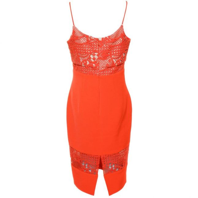 Womens Orange Marlo Dress