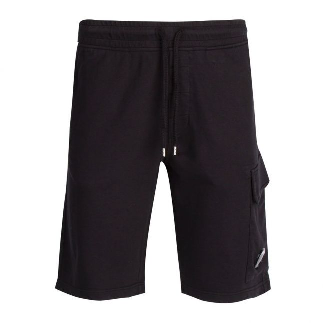 Mens Black Lens Sweat Shorts