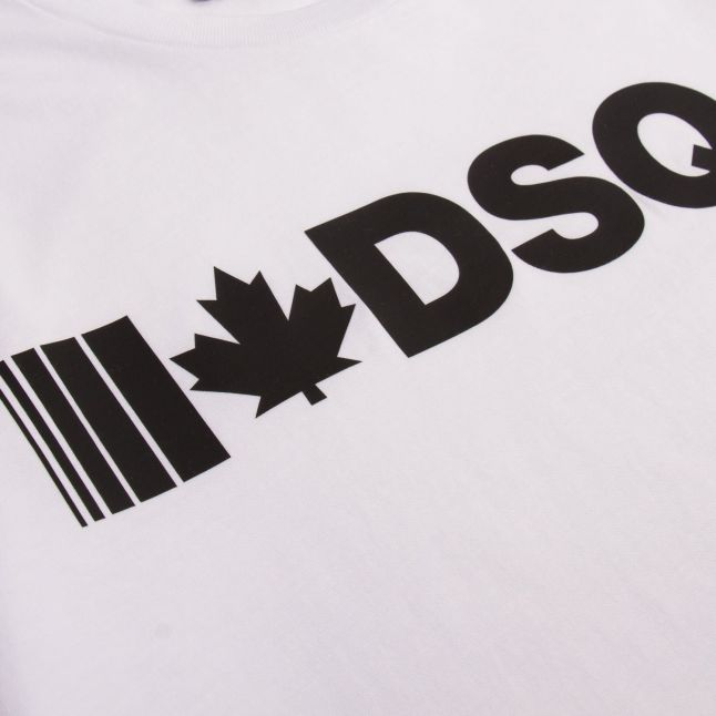 Boys White I Heart DSQ2 S/s T Shirt