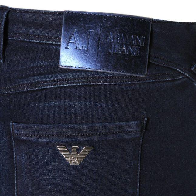 Womens Blue J28 Sateen Stretch Skinny Fit Jeans