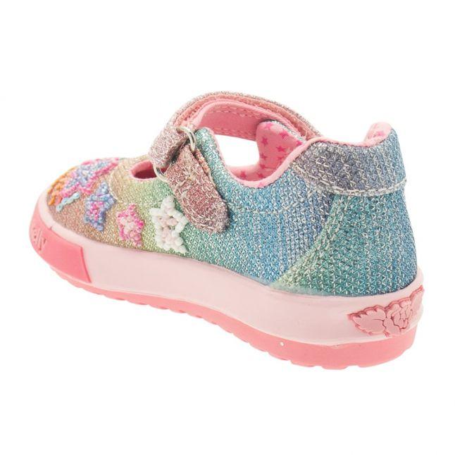 Baby Multi Glitter Rainbow Stars Shoe (20-24)