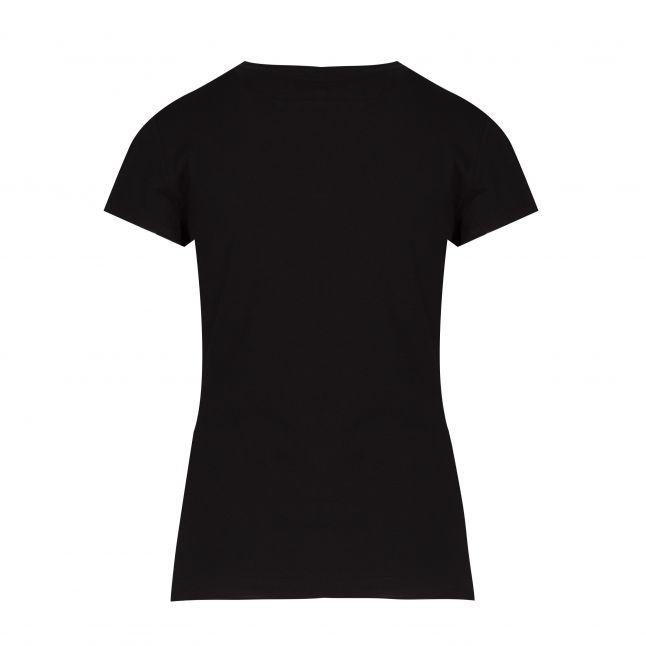 Womens Black Branded Tape S/s T Shirt