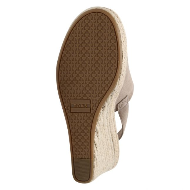 Womens Taupe Suede Monica Jute Wedges