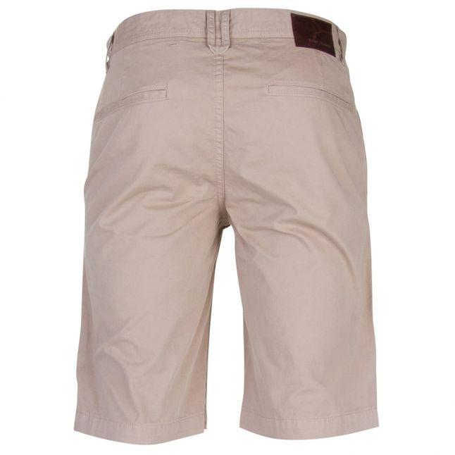 Mens Medium Beige Wash Schino Regular Fit Shorts