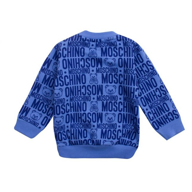 Baby Blue Toy Print Sweat Top