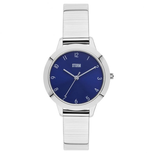 Womens Blue Dial Silver Arya Watch