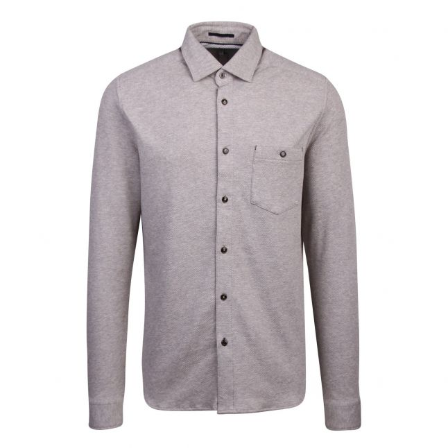 Mens Grey Marl Morty Texture L/s Shirt
