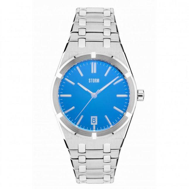 Mens Lazer Blue Dial Silver Hixter Watch