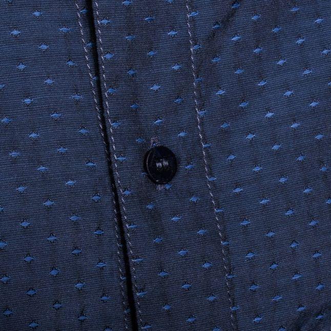 Mens Blue Spot S/s Shirt