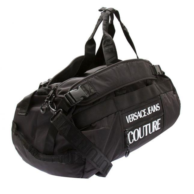 Mens Black Nylon Large Travel Backpack