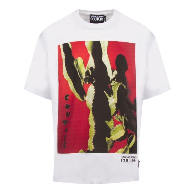 Mens White Collection Cactus Regular Fit S/s T Shirt