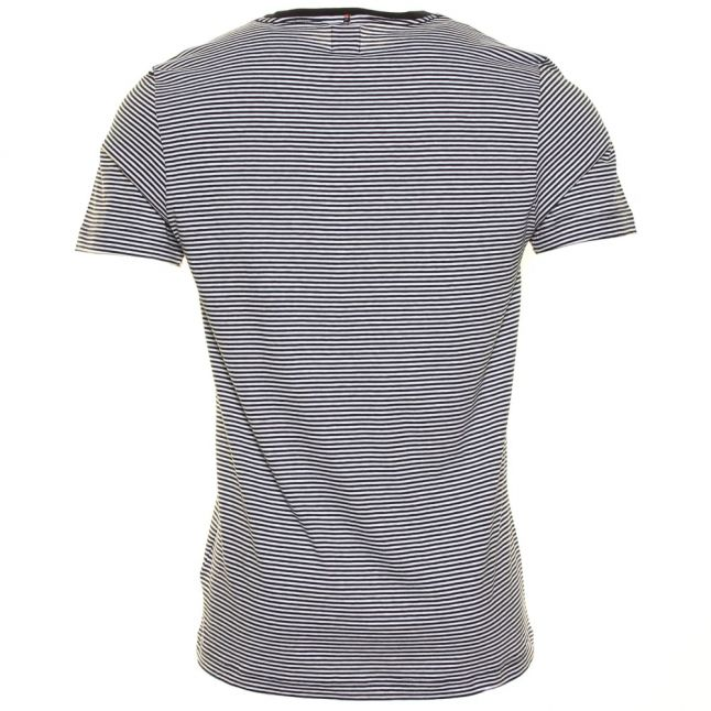 Mens Navy Feeder Stripe S/s Tee Shirt