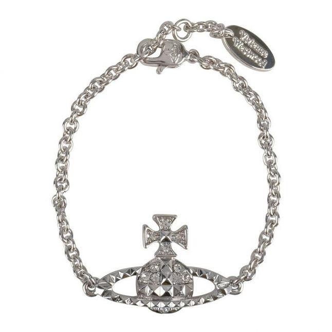 Womens Silver/Crystal Mayfair Bas Relief Bracelet