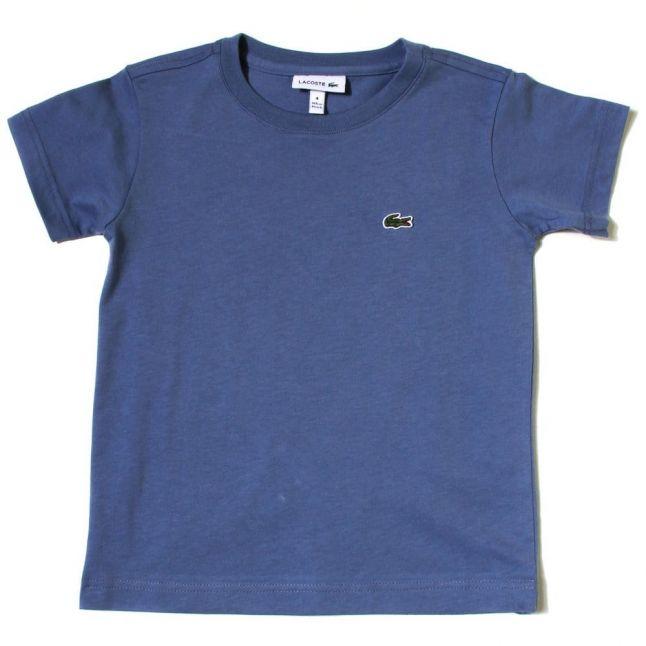 Boys Platoon Blue Classic Crew S/s Tee Shirt