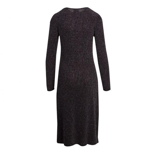 Womens Black Vishinni Lurex Glitter Dress