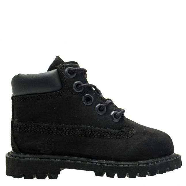 Toddler Black 6 Inch Premium Boots (4-11)