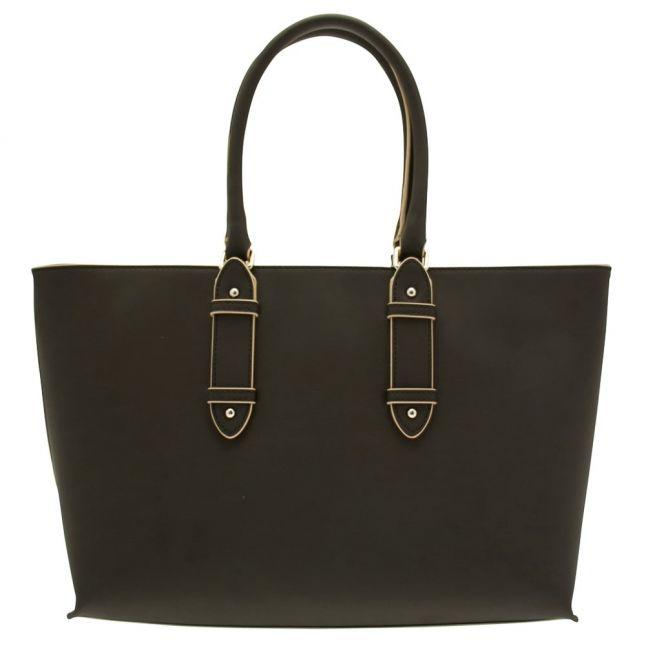 Womens Black Buckle Tote Bag