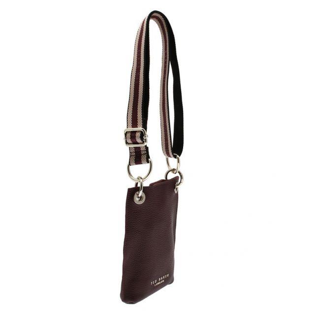Womens Deep Purple Webbins Webbing Phone Crossbody Bag