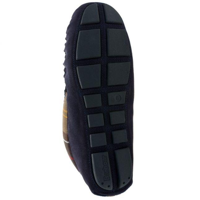 Mens Navy Monty Moccasin Slippers
