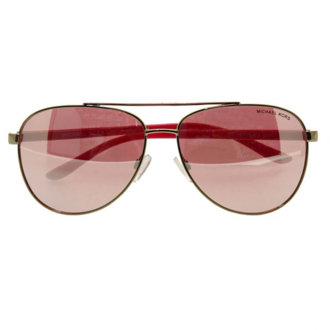 Womens Gold Fuscia Hvar Sunglasses