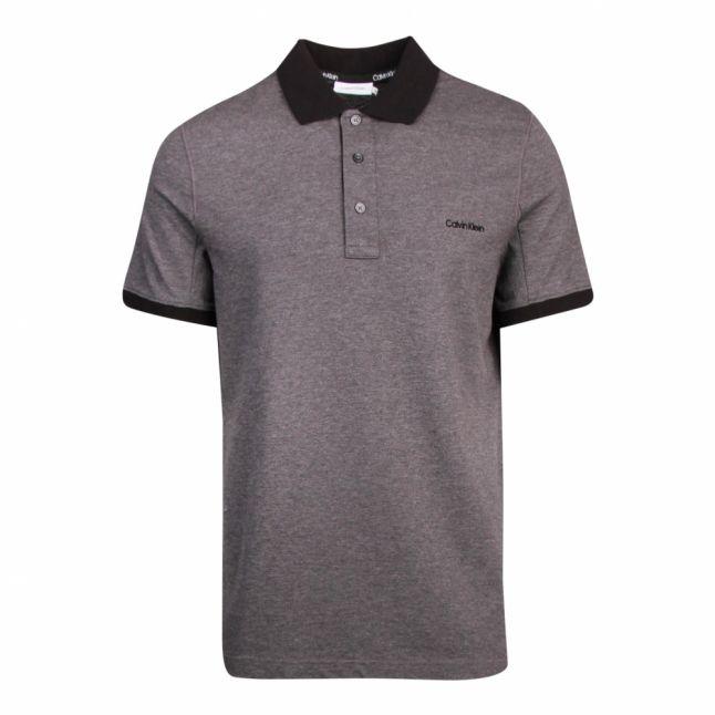 Mens Dark Grey Tone on Tone Logo S/s Polo Shirt