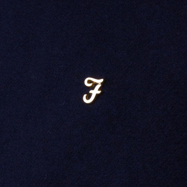 Mens True Navy Otley Collar Coat