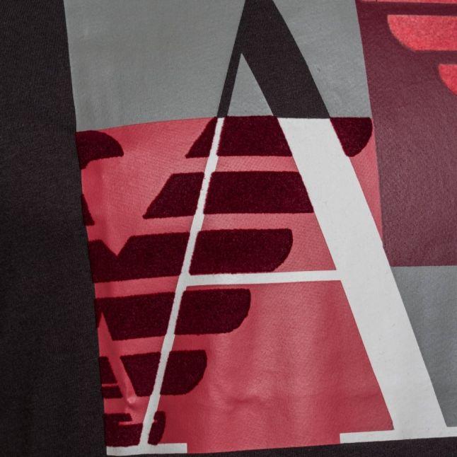 Mens Grey Contrast Box Logo Regular Fit S/s Tee Shirt
