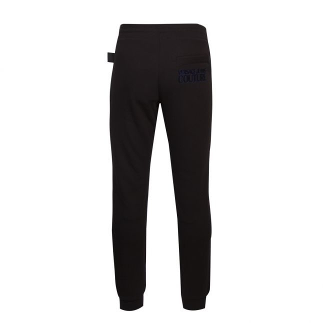 Mens Black Flock Logo Sweat Pants