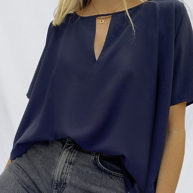 Womens Utility Blue Alicia Light S/s Top