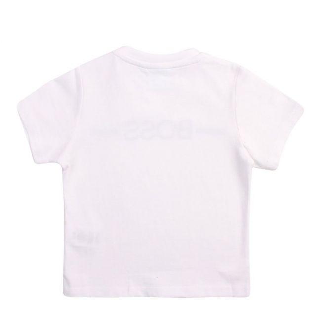 Toddler White Branded Chest Line S/s T Shirt