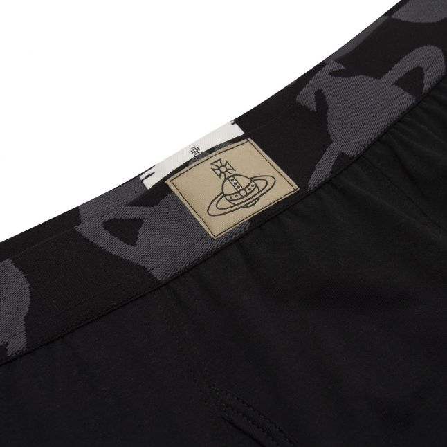Mens Black Logo Waistband Boxers