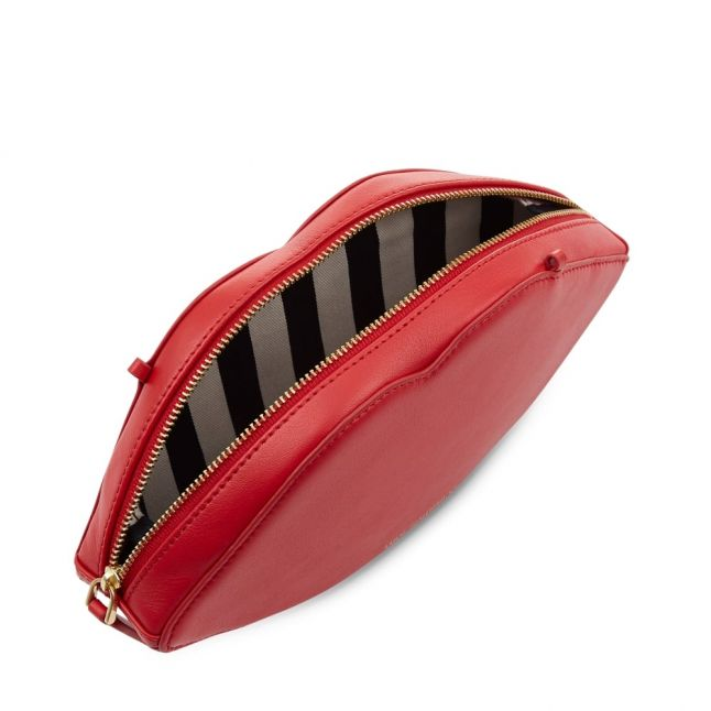Womens Red Smooth Lips Cross Body Bag