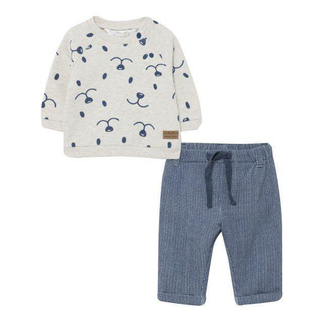 Baby Indigo Bear Sweat Top & Pants Set