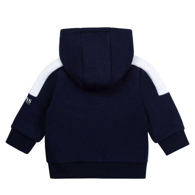 Toddler Navy Colourblock Hooded Zip Through Sweat Jacket