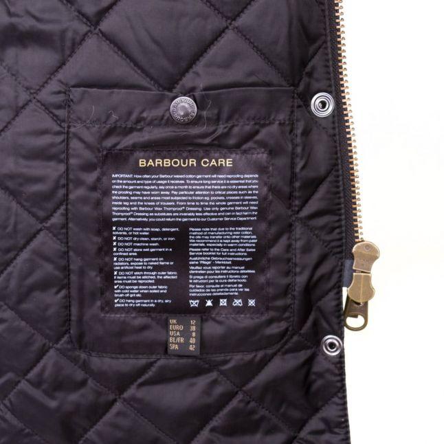 Heritage Womens Black Snow Mac Waxed Jacket