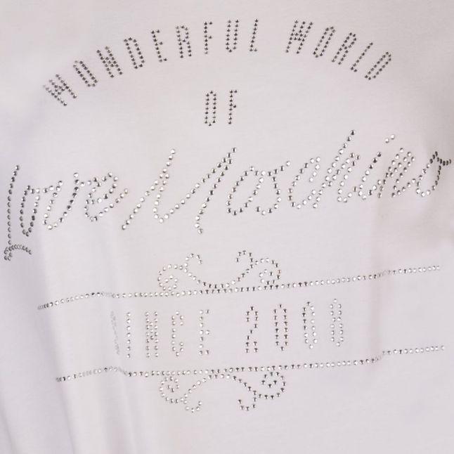 Love Mochino Womens White Knot Tee