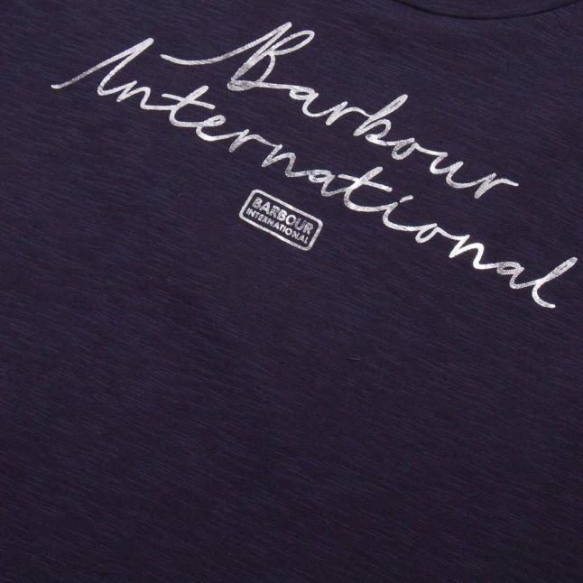 Womens Metallic Blue Hallstatt S/s T Shirt