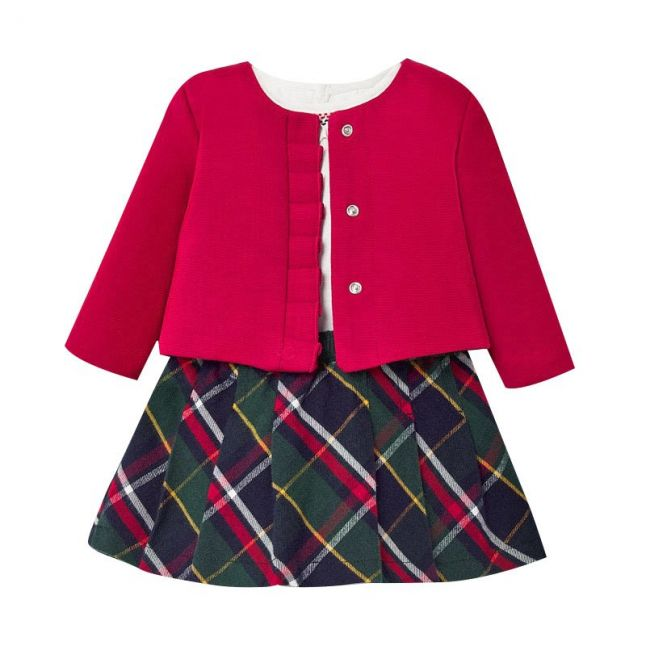 Baby Red Tartan Skirt 3 Piece Set