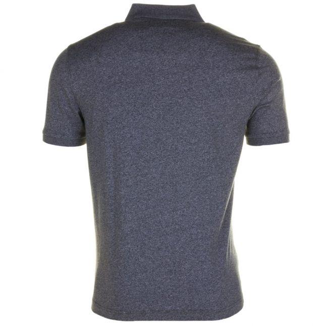 Mens True Black Jaspe Marl Slim Fit S/s Polo Shirt