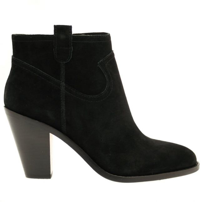 Womens Black Ivana Suede Ankle Boots